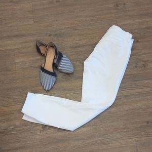 White Loft cropped jeans - AB002